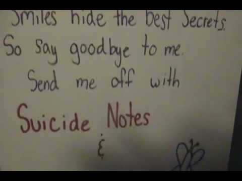 Suicide Notes And Butterfly Kisses Lyric Video Youtube