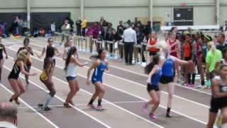 QHS Girls Track and Field 4x200 Relay at Lehigh University 1.10.14