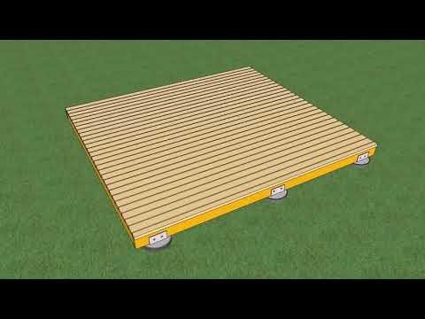 Build A Deck Over Uneven Concrete
