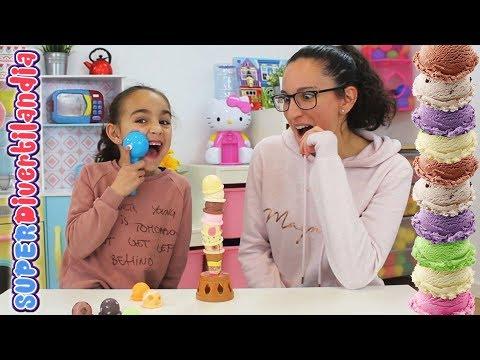 Torre de Helados y Albóndigas! Andrea Y Raquel en SUPERDivertilandia.