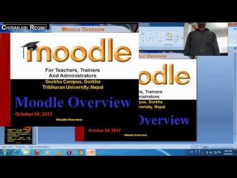 Moodle for Nepal demo display among TU & Denish Prof. (.wmv) computer version