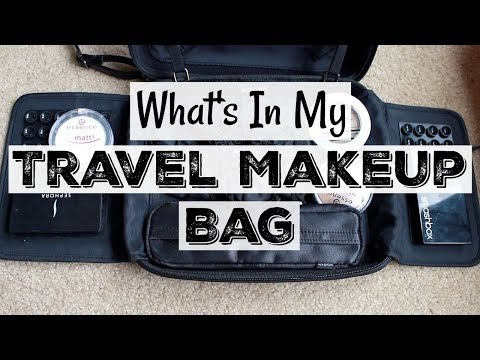 Realistic Travel Makeup Bag | Pack With Me | Katie Marie