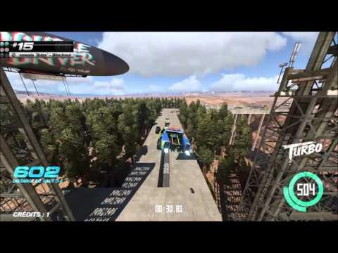 Trackmania Turbo Stunt High speed track (canyon) #1