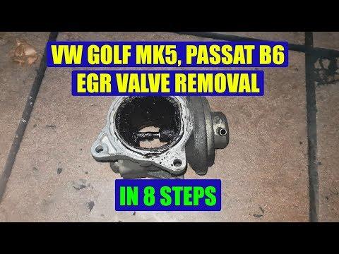 VW Golf MK5, Jetta, Passat B6, Touran, Skoda Octavia, Seat Leon 2.0 TDI EGR valve removal