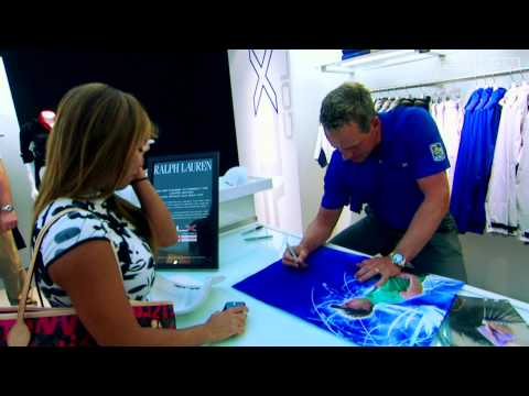 Luke Donald Meets Fans for a Cause