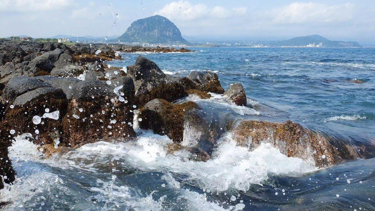 제주 산방산앞바다,형제섬 파도소리,ASMR. The sound of waves off Sanbangsan Mountain, Jeju Island