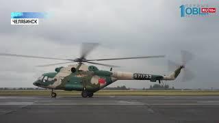 В небе над Южным Уралом военные вертолеты