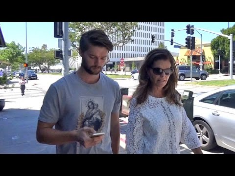 EXCLUSIVE - Patrick Schwarzenegger Looks Depressed, Asked About Miley Breakup After Lunch With Mom