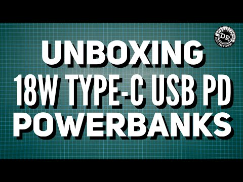 Unboxing 18W Type-C USB PD powerbanks from a viewer!