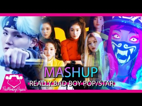 K/DA /BTS /Red Velvet– Really Bad Boy x Mic Drop x Pop/Stars ft. (G)I-DLE [MASHUP] 2018 remix