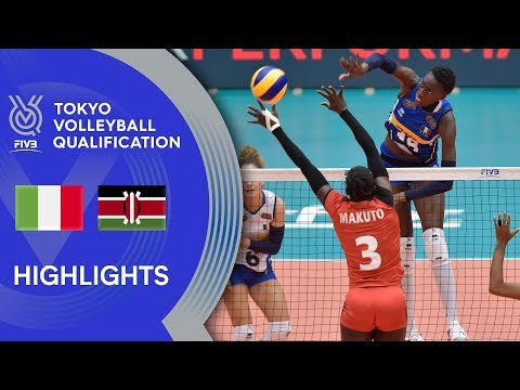 ITALY vs. KENYA - Highlights Women | Volleyball Olympic Qualification 2019
