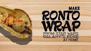 Ronto Wrap Walt Disney World Food Recipe Youtube