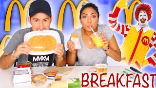 TRYING MCDONALDS BREAKFAST MENU!