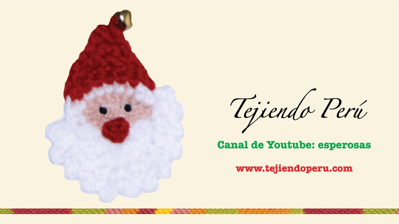 Papa Noel tejido en crochet - YouTube