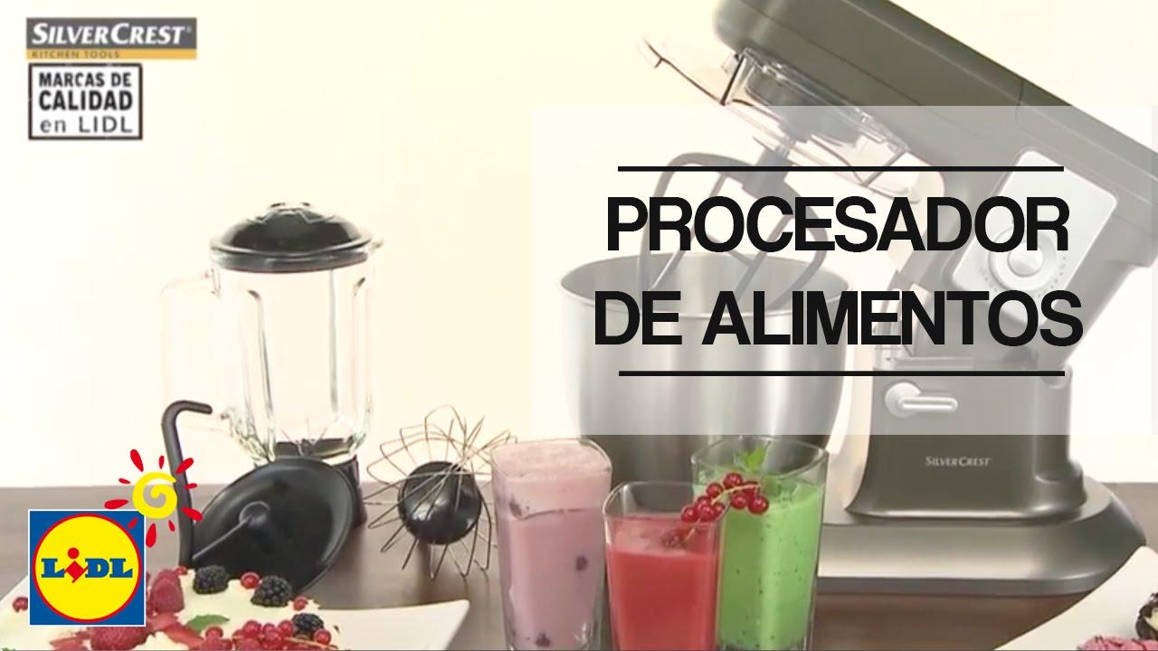 Procesador de alimentos silvercrest youtube for Robot de cocina silvercrest