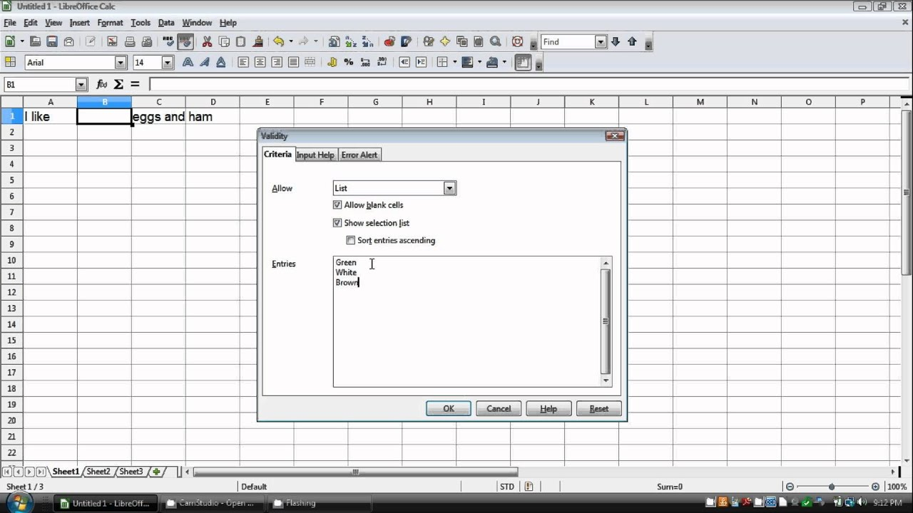 How to make a drop down list in openoffice libreoffice calc youtube - Openoffice or libre office ...