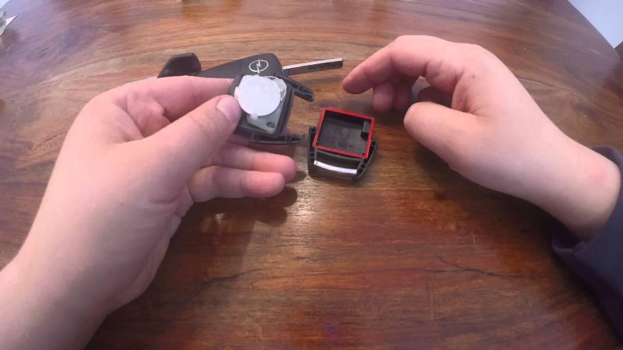 batterie wechseln bei einem opel astra und zafira schlüssel! - youtube