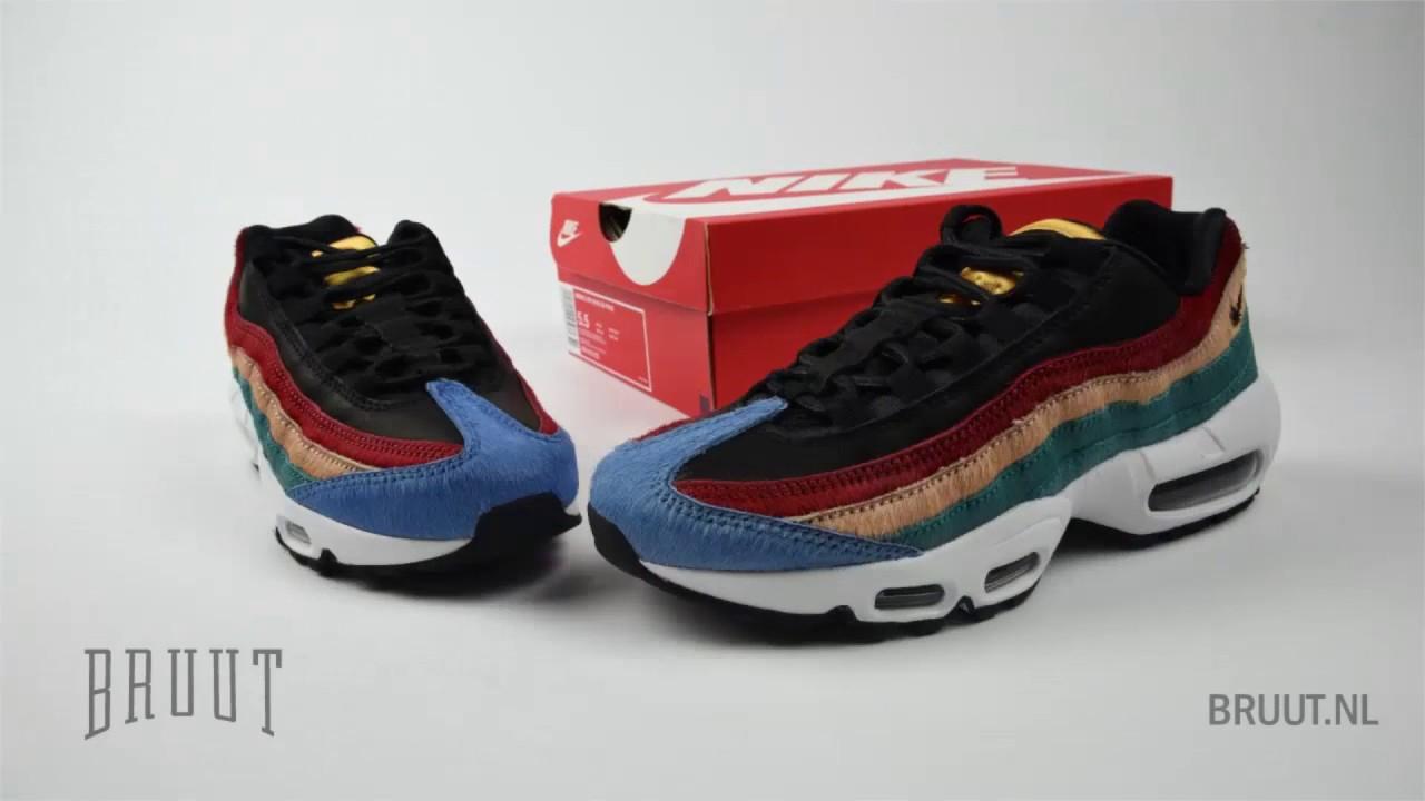 new concept 96fd3 db872 Bruut Sneakers - Air Max 95 Rio Teal Rainbow Ponyhair