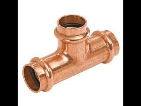 How To Press Copper Crimp Fittings Kempress Viega B Press Conex New