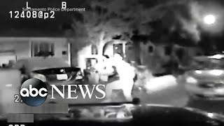Authorities release video of a police officer who rammed teenager with SUV