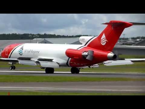 Boeing 727 Oil Spill Response Landing at Farnborough Airport