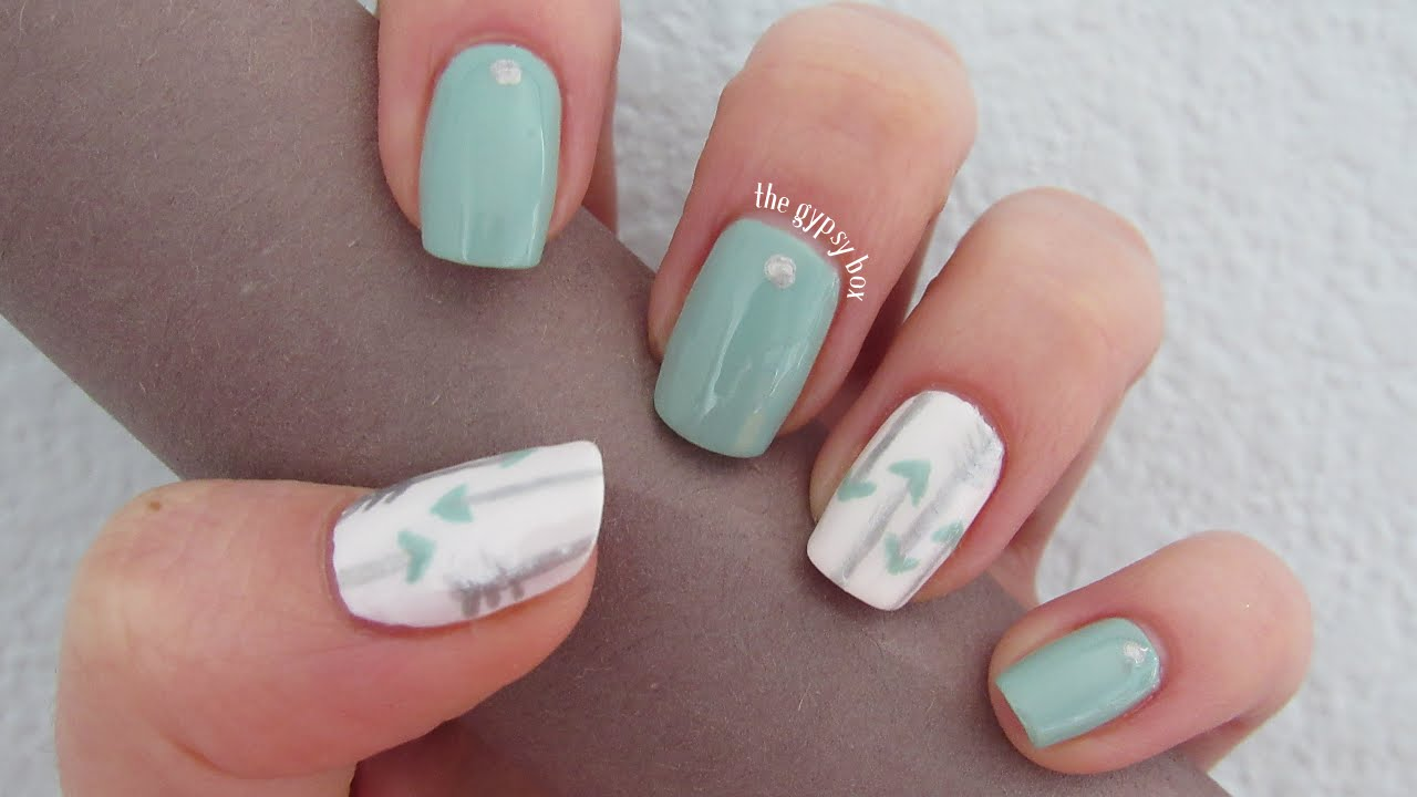 nailart Coachella Bohemian Arrow Nail Art Design