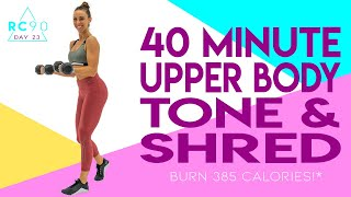 Shred workout 🔥burn 385 calories ...