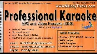 Tumhe jo maine dekha - Abhijeet Shreya KarAoke - www.MelodyTracks.com
