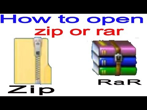 How To Unzip A File  Within 30 Second//zip And RaR
