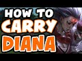 How to CARRY with DIANA | Ft. IKeepItTaco | Challenger Diana Mid Commentary - League of Legends