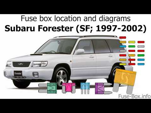 2002 subaru forester fuse diagram fuse box location and diagrams subaru forester  sf  1997 2002  subaru forester  sf
