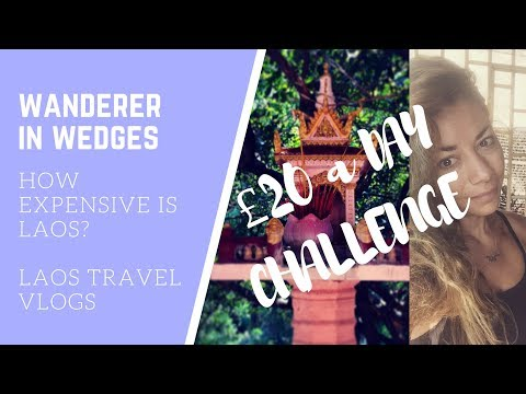 How Expensive is Laos - - - Living on £20 a DAY in Vientaine as a VEGAN - - - £20 a day challenge!!