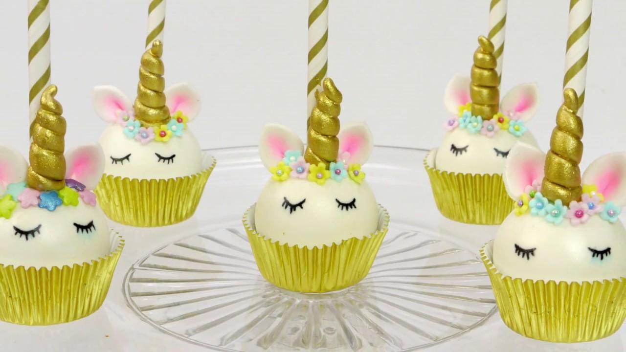 How To Make Easy Unicorn Cake Pops Youtube