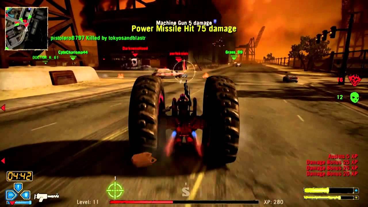Twisted Metal Ps3 Axel Online Team Deathmatch Watkins