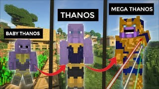 LIFE AS THANOS IN MINECRAFT / WE ARE BECOMING THE ULTIMATE THANOS !!!
