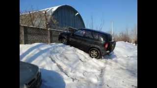 Шнива паркуется зимой