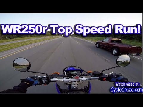 Yamaha WR250r Top Speed Run - Highway Review | MotoVlog - YouTube