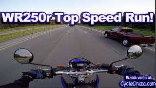 Yamaha WR250r Top Speed Run - Highway Review | MotoVlog