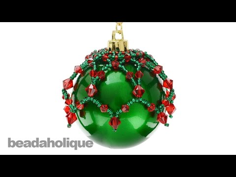 How to Make a Beaded Christmas Ornament Topper