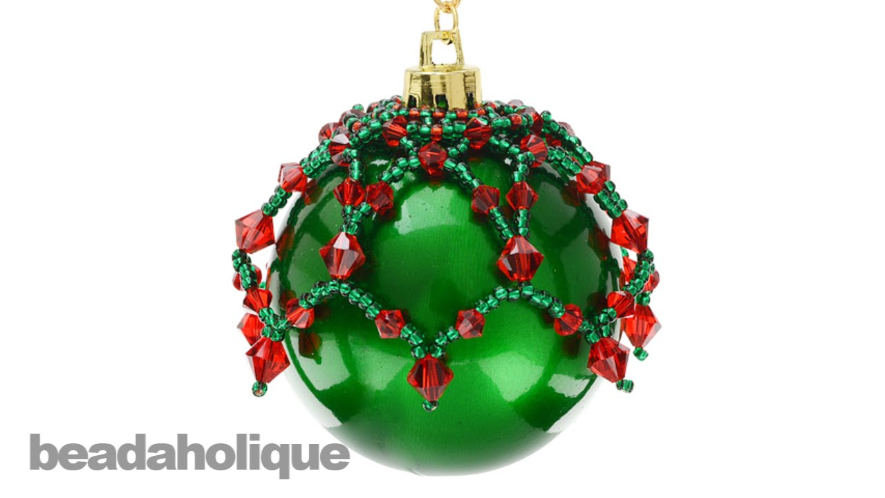 How to Make a Beaded Christmas Ornament Topper - YouTube