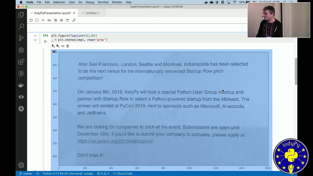 Image from Felix Wyss: Jupyter Notebooks in Visual Studio Code | PyData Indy 2019