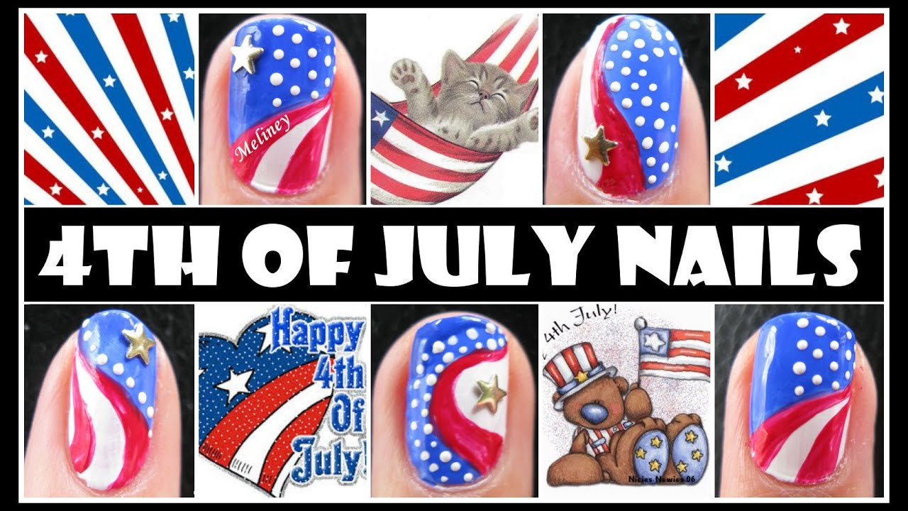 4th of july nails captain america nail art design independence 4th of july nails captain america nail art design independence day american flag how to youtube prinsesfo Gallery