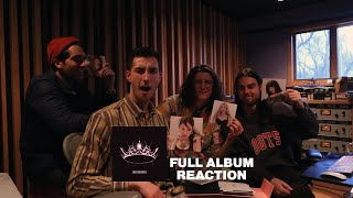 POP BAND REACTS TO BLACKPINK - THE ALBUM (FULL ALBUM REACTION + UNBOXING)