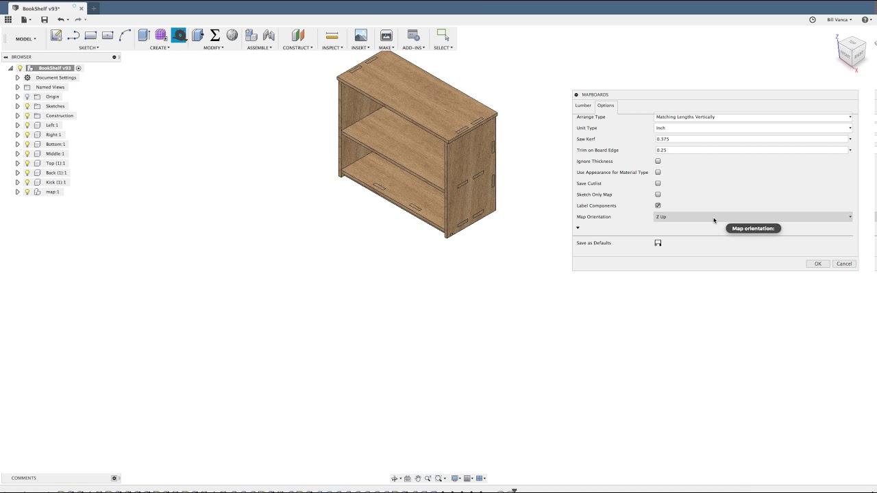 MapBoards Demo - AddIn for Fusion 360
