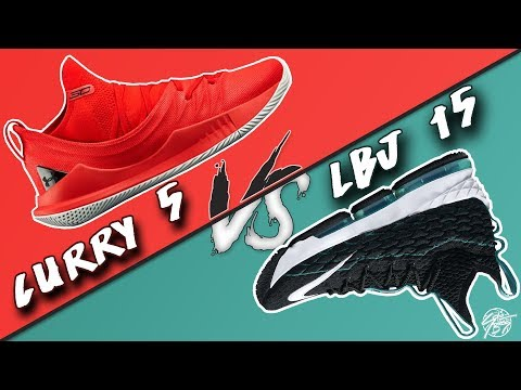 Under Armour Curry 5 vs Nike Lebron 15!
