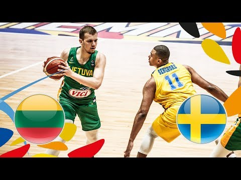 Lithuania v Sweden - Full Game - Class. 9-16 - FIBA U20 European Championship 2018