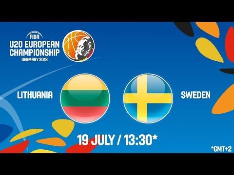 LIVE 🔴 - Lithuania v Sweden - Class. Game 9-16 - FIBA U20 European Championship 2018