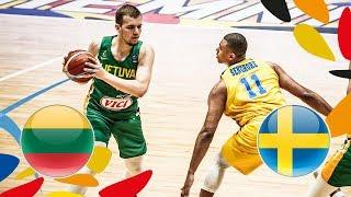 Lithuania v Sweden - Full Game - Class. 9-16 - FIBA U20 European Championship 2018