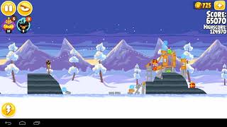 Angry Birds Seasons Wreck the Halls Level 14  129130