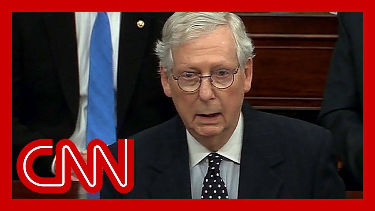 Watch McConnell side against Trump in Senate speech